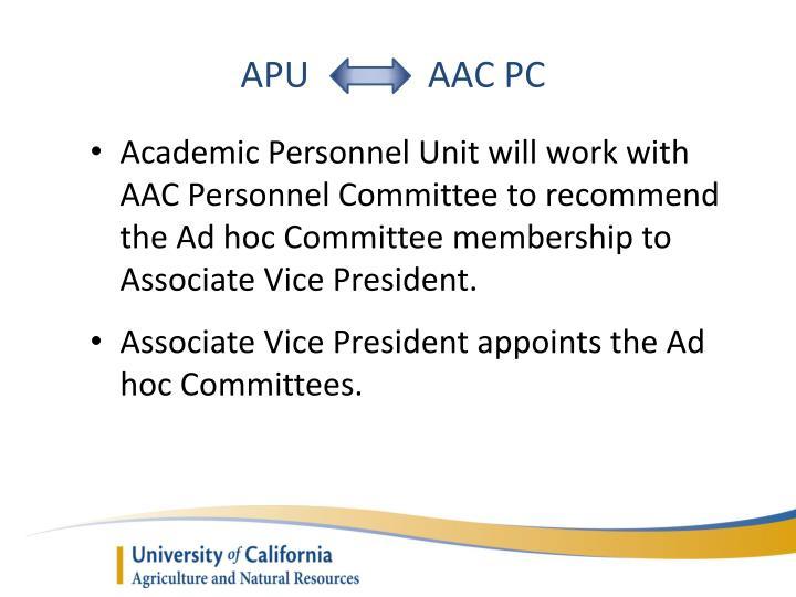 APU            AAC PC
