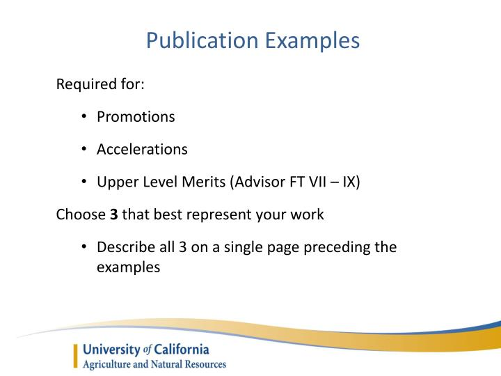 Publication Examples