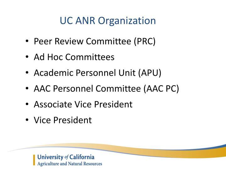 UC ANR Organization
