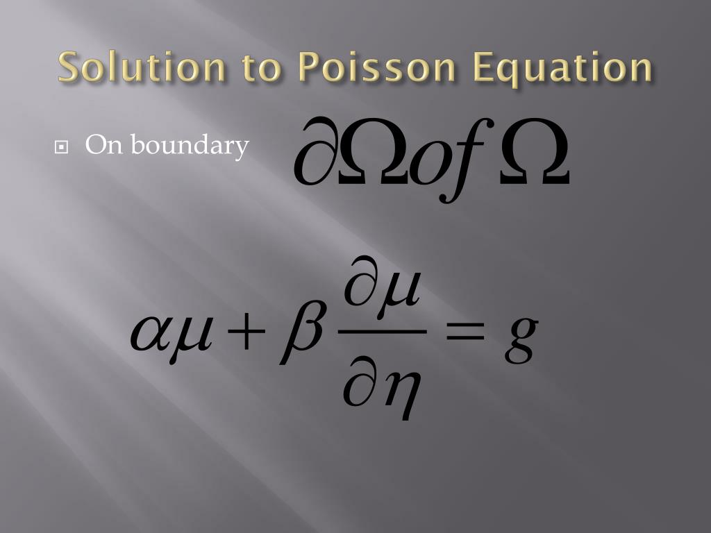 PPT - Poisson equation, General Relativity and metaphysics