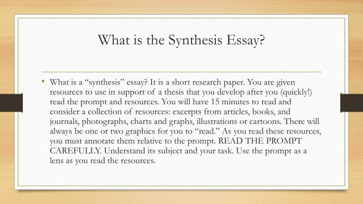 focus on community service synthesis essay A synthesis is a written discussion that draws on one or more sources it follows that your ability to write syntheses depends on your ability to infer relationships among sources - essays, articles, fiction, and also nonwritten sources, such as lectures, interviews, observations this process is.