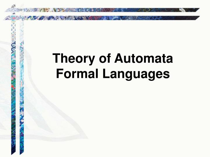 Theory of Automata