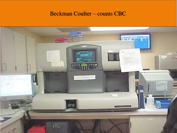 Beckman Coulter – counts CBC
