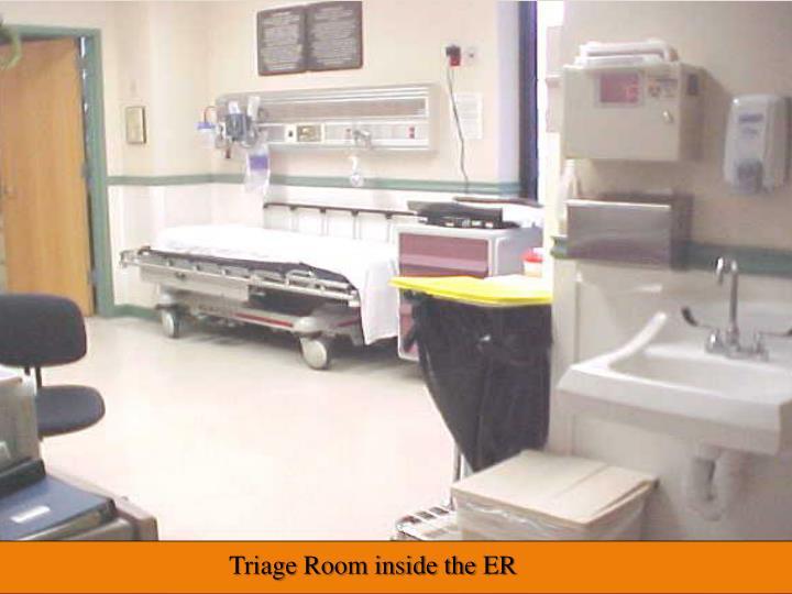 Triage Room inside the ER