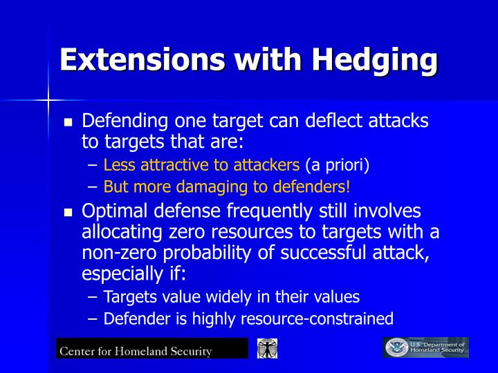 Extensions with Hedging