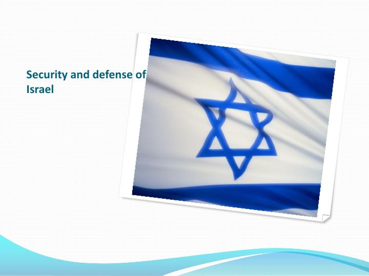 Security and defense of Israel