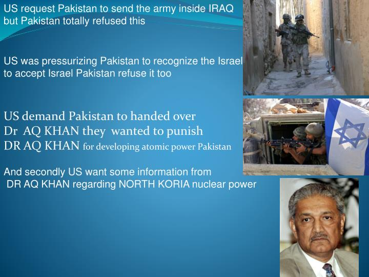 US request Pakistan to send the army inside IRAQ
