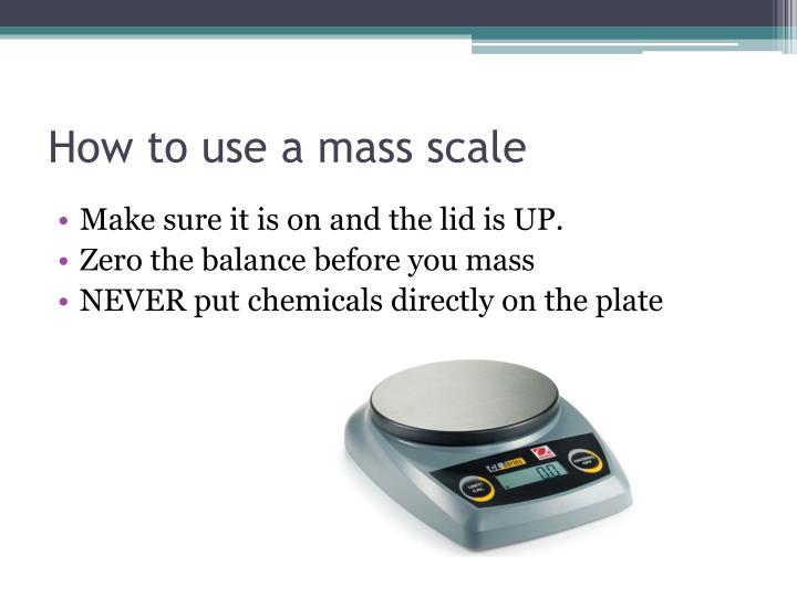 How to use a mass scale
