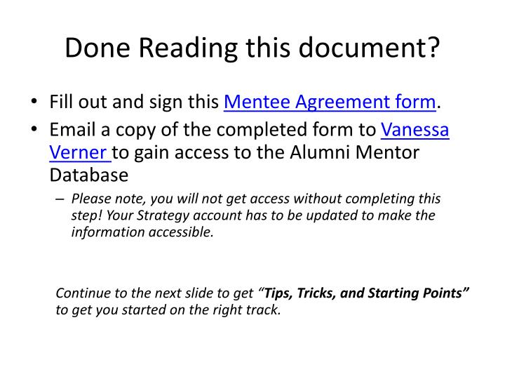 Done Reading this document?