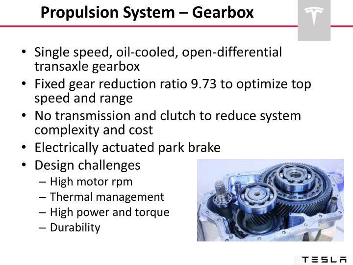 Propulsion System – Gearbox