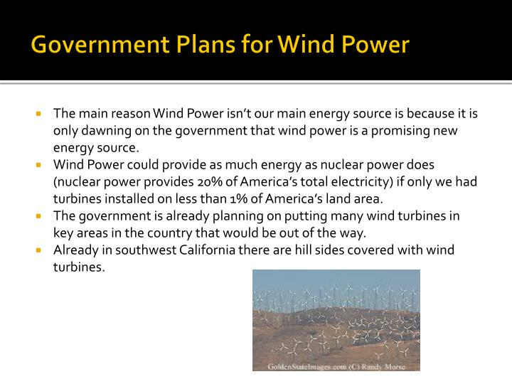 Government Plans for Wind Power