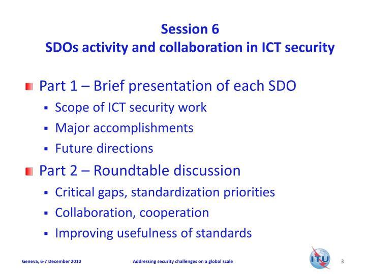 Session 6 sdos activity and collaboration in ict security1
