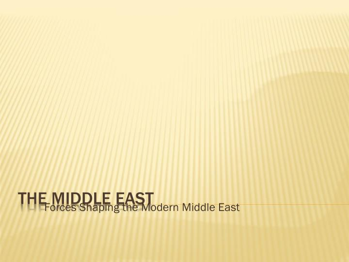 forces shaping the modern middle east n.