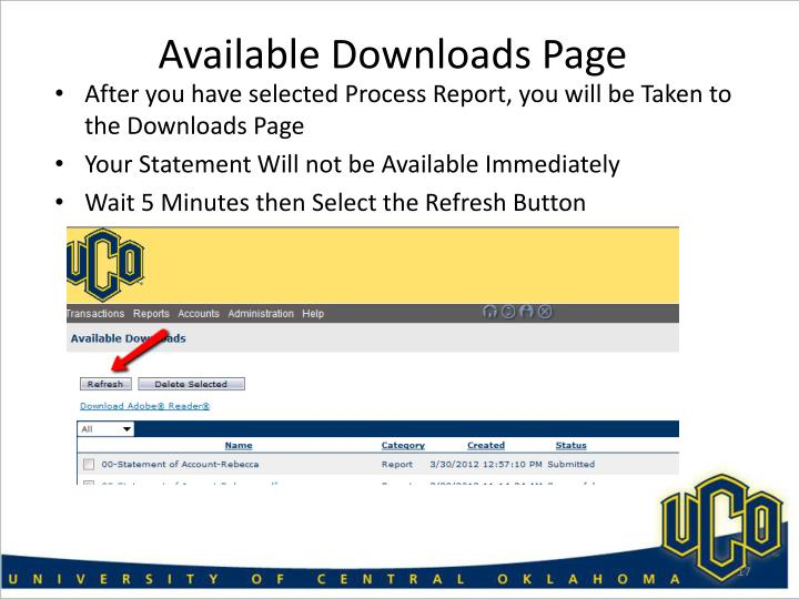 Available Downloads Page