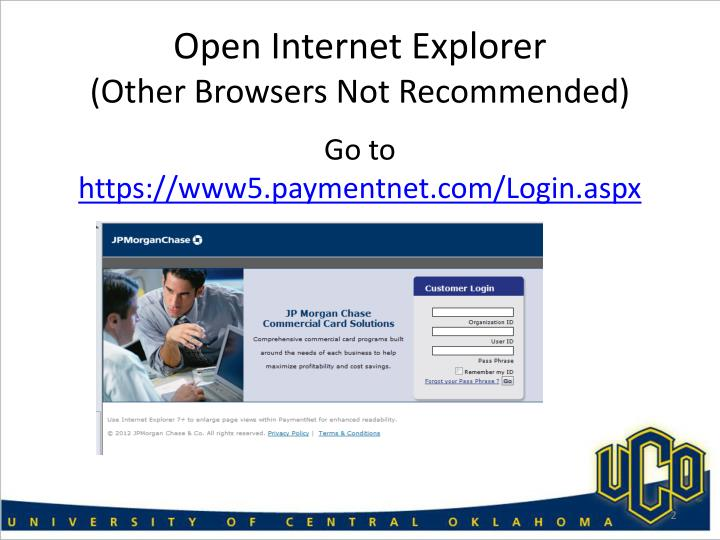 Open internet explorer other browsers not recommended