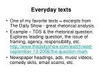 everyday texts