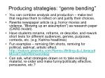 producing strategies genre bending