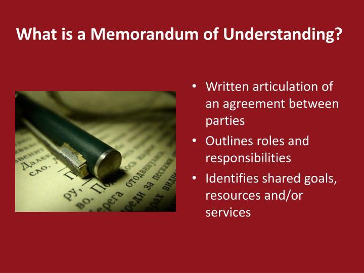 Ppt Writing An Effective Memorandum Of Understanding For Prek