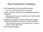 your production company