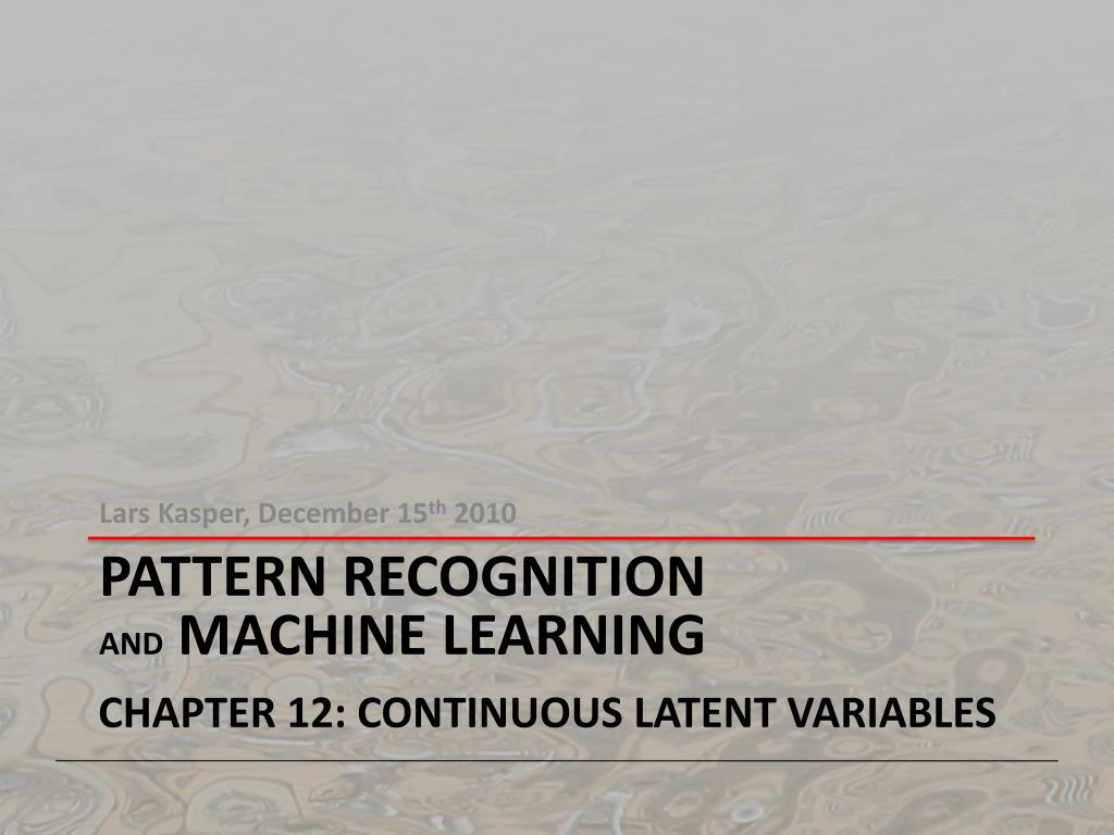 Pattern Recognition And Machine Learning Amazing Decorating Ideas