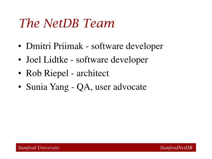 The NetDB Team