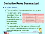 derivative rules summarized1