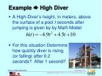 example high diver
