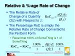 relative age rate of change
