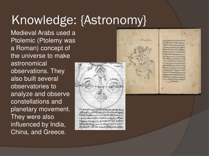 Knowledge: {Astronomy}