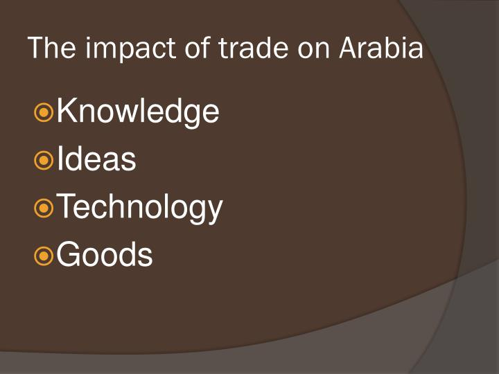 The impact of trade on Arabia