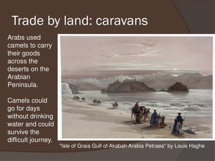 Trade by land: caravans