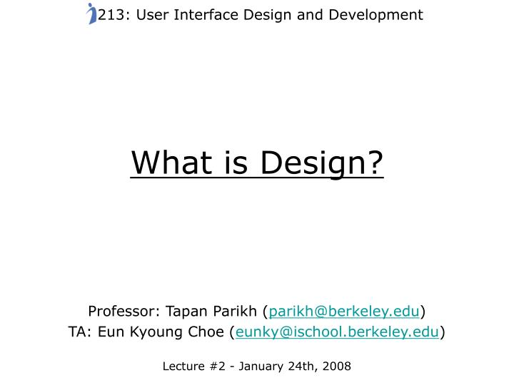 what is design n.