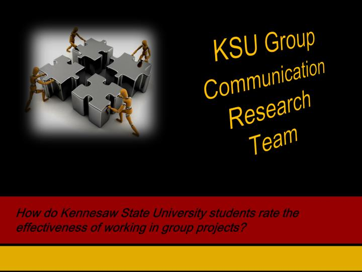 How do kennesaw state university students rate the effectiveness of working in group projects