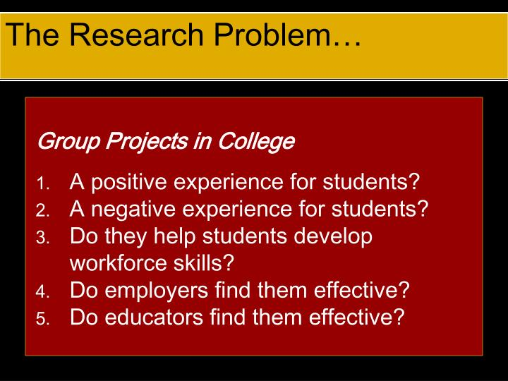 The Research Problem…
