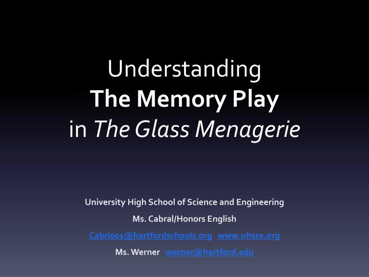 the glass menagerie essay thesis The play the glass menagerie, by tennessee williams, williams uses many symbols which represent many different things many of the symbols used in the play try to symbolize some form of escape or difference between reality and illusion.