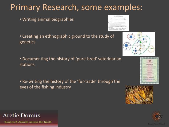 Writing animal biographies