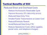 tactical benefits of edi