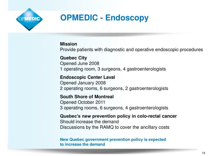 OPMEDIC - Endoscopy