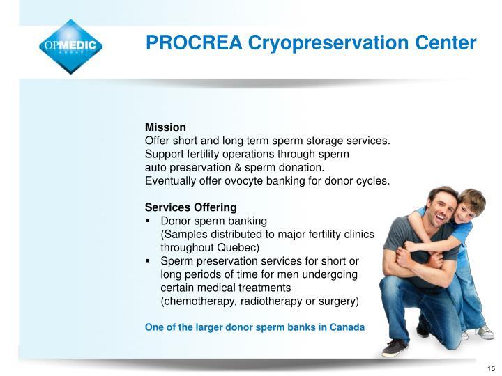PROCREA Cryopreservation Center