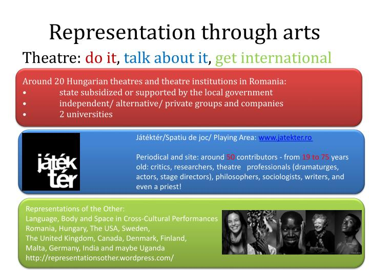Representation through arts