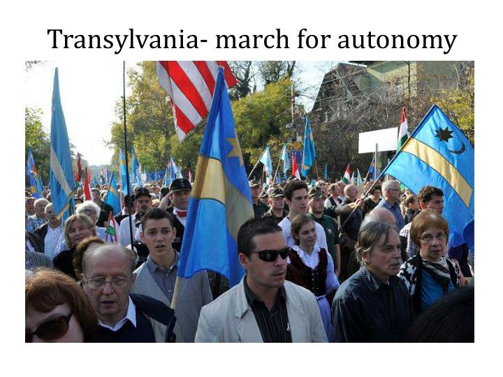 Transylvania- march for autonomy