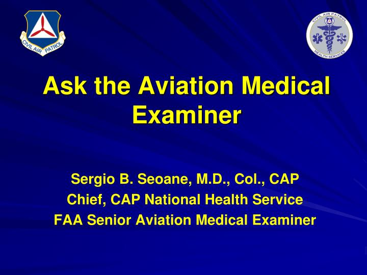 ask the aviation medical examiner n.