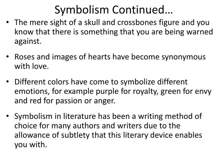 Ppt Symbolism In Literature Powerpoint Presentation Id2688220