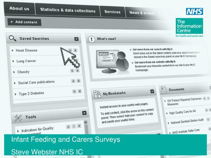 Infant Feeding and Carers Surveys