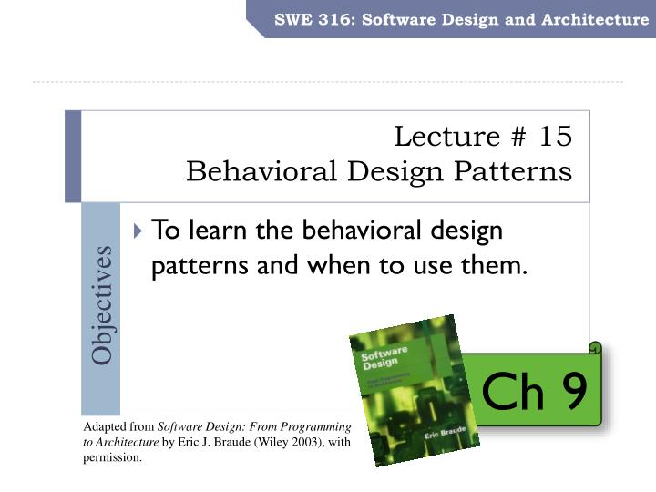 Ppt Lecture 15 Behavioral Design Patterns Powerpoint Presentation Free Download Id 2688353