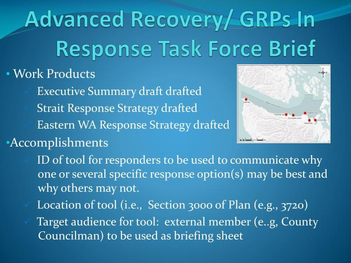 advanced recovery grps in response task force brief n.