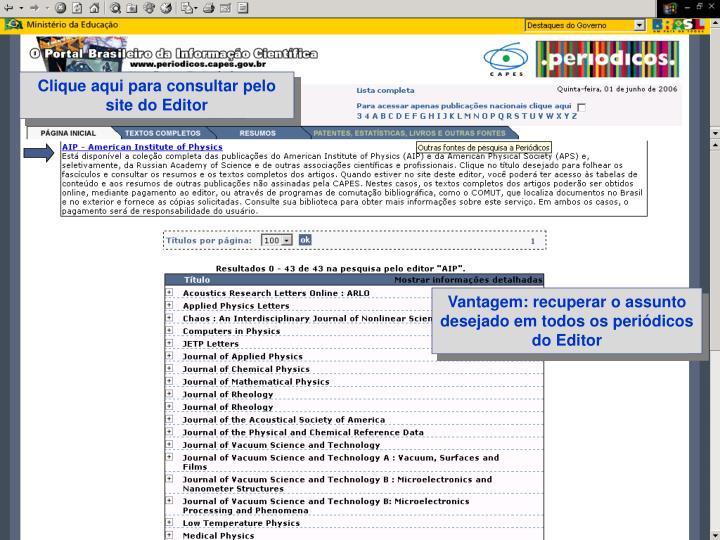 Clique aqui para consultar pelo site do Editor
