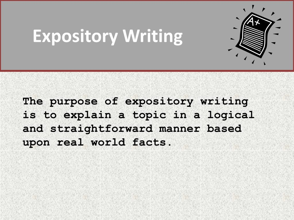 facts about expository writing