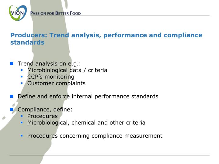 Producers: Trend analysis, performance and compliance standards