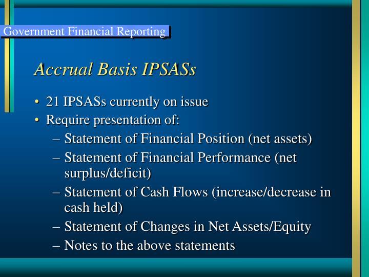 Accrual Basis IPSASs